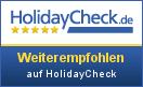 Weiterempfohlen auf Holidaycheck